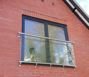 Anthracite F Doors with Juliet balcony